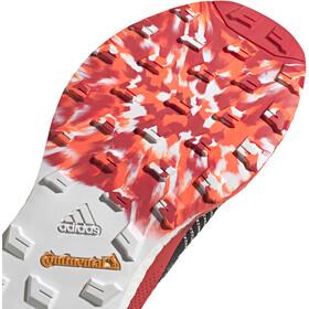adidas TERREX Two Ultra Parley Hardloopschoenen Heren, crystal white/core black/scarlet